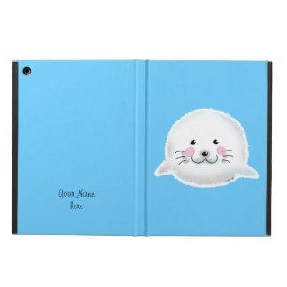 Cute fluffy baby seal iPad air case