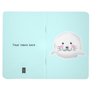 Cute fluffy baby seal journals