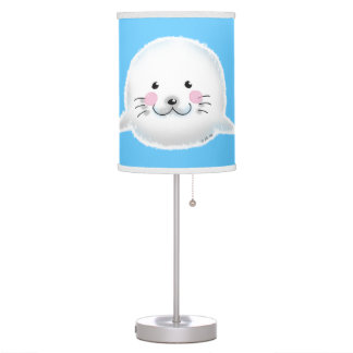 Cute fluffy baby seal desk lamp