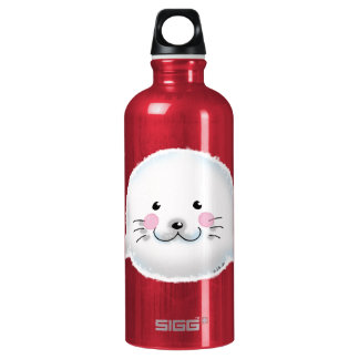 Cute fluffy baby seal SIGG traveler 0.6L water bottle
