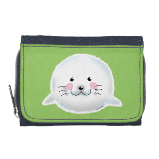 Cute fluffy baby seal wallets