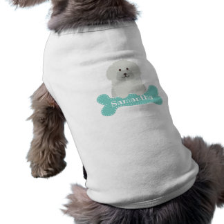 Cute Fluffy Curly Coat Poodle Puppy Dog Monogram Shirt