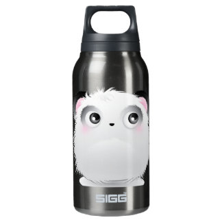 Cute Fluffy Furry White Cartoon Panda Insulated Water Bottle