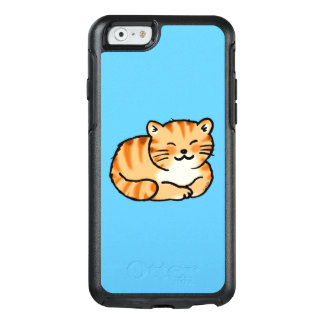 cute fluffy ginger and white cat OtterBox iPhone 6/6s case