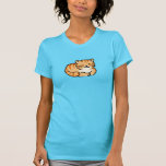 cute fluffy ginger and white cat tee shirt