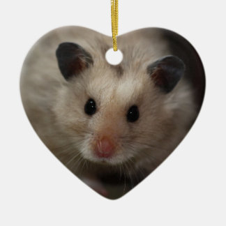 Cute Fluffy Hamster Christmas Tree Ornament