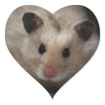 Cute Fluffy Hamster Heart Sticker