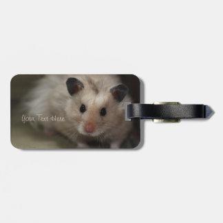 Cute Fluffy Hamster Luggage Tag