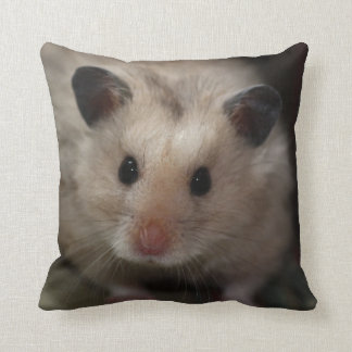 Cute Fluffy Hamster Throw Pillow