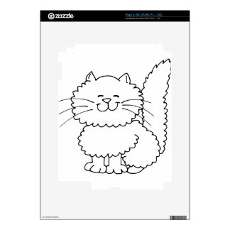 Cute Fluffy Happy Cat Decal For The iPad 2