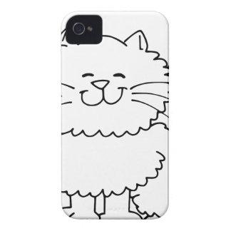 Cute Fluffy Happy Cat iPhone 4 Case
