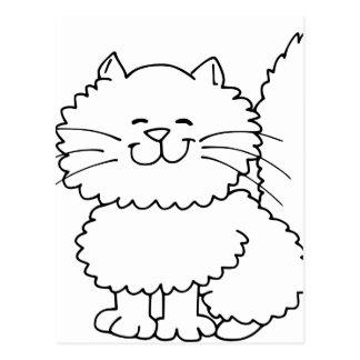 Cute Fluffy Happy Cat Postcard