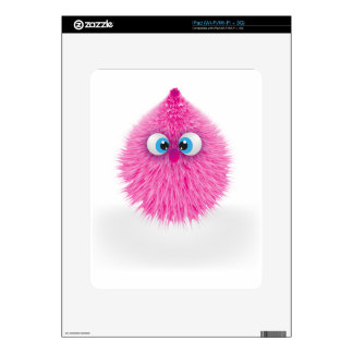 Cute Fluffy Pink Monster Decal For The iPad
