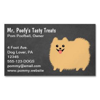Cute Fluffy Pomeranian Business Card Magnet