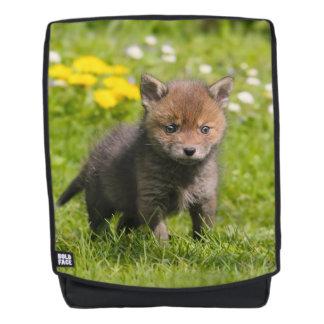 Cute Fluffy Red Fox Cub Wild Baby Animal  Boldface Backpack