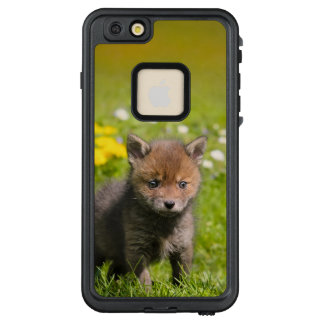 Cute Fluffy Red Fox Cub Wild Baby  _ waterproof LifeProof FRĒ iPhone 6/6s Plus Case