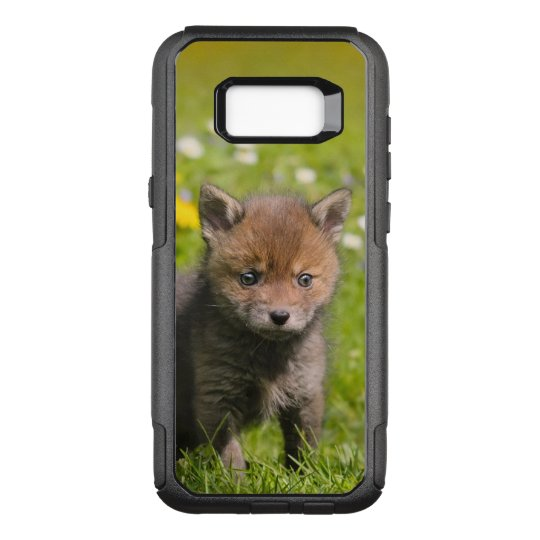 Cute Fluffy Red Fox Kit Cub Wild Baby Animal Photo OtterBox Commuter  Samsung Galaxy S8+ Case