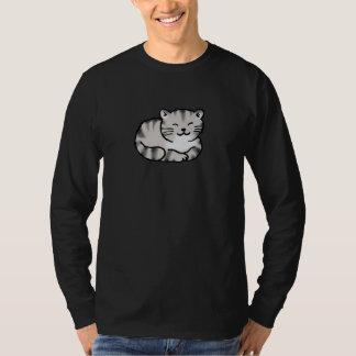 cute fluffy tabby gray tiger cat T-Shirt