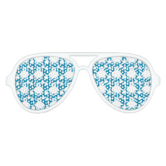 Cute Fluffy Teddies Pattern Aviator Sunglasses