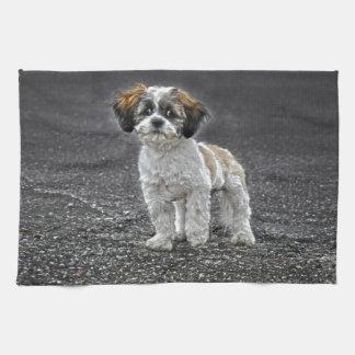 Cute Fluffy Toy Dog Puppy Hand Towel