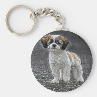 Cute Fluffy Toy Dog Puppy Keychain