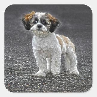 Cute Fluffy Toy Dog Puppy Sticker