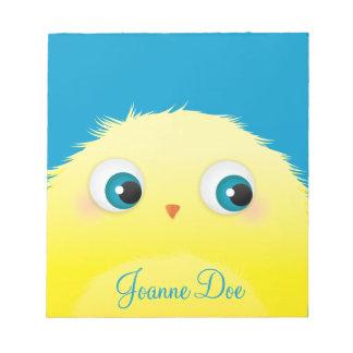 Cute Fluffy Yellow Bird Notepad