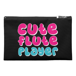 Cute Flute Player Travel Accessories Bags