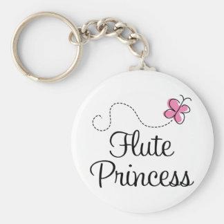 Cute Flute Princess Basic Round Button Keychain
