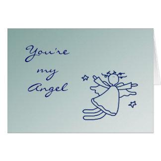 Cute Flying Angel Thank You Card