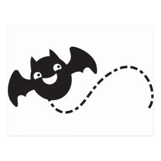 cute flying bat postcard