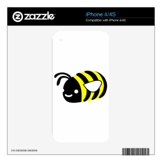 Cute flying bumblebee iPhone 4 decals