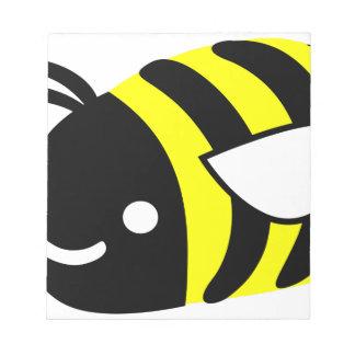 Cute flying bumblebee notepad