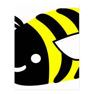Cute flying bumblebee postcard