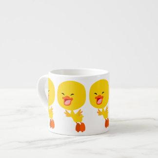 Cute Flying Cartoon Duckling Espresso Mug