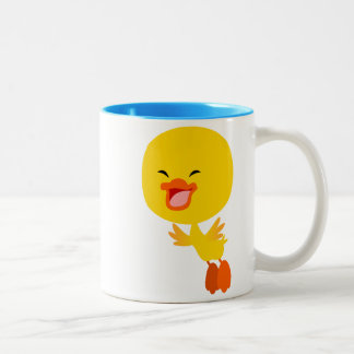 Cute Flying Cartoon Duckling Mug