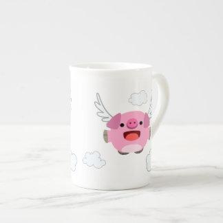 Cute Flying Cartoon Pig Tea Cup