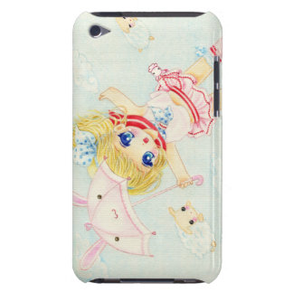 Cute flying chibi with kawaii bunny umbrella iPod Case-Mate case