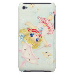 Cute flying chibi with kawaii bunny umbrella iPod touch covers