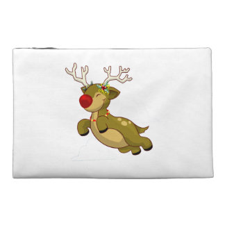 Cute Flying Christmas Reindeer With Clouds Travel Accessory Bag