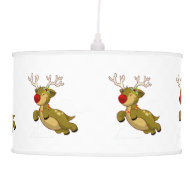 Cute Flying Christmas Reindeer With Clouds Ceiling Lamps