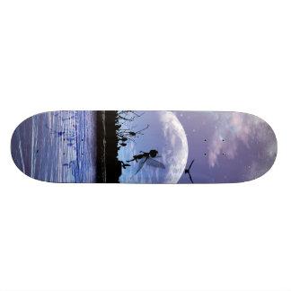 Cute flying fairy skateboard deck
