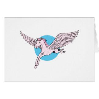cute flying pegasus greeting cards