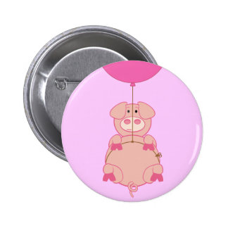 Cute Flying Pig and Balloon Pin