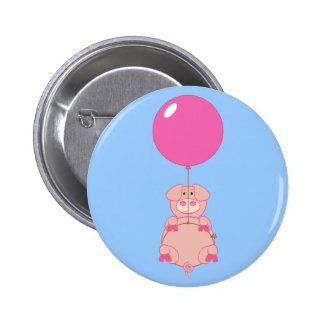 Cute Flying Pig and Balloon Buttons