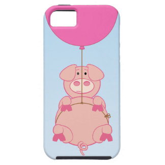 Cute Flying Pig and Baloon iPhone 5 Case