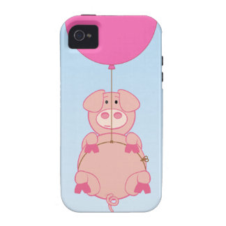 Cute Flying Pig and Baloon iPhone 4/4S Case