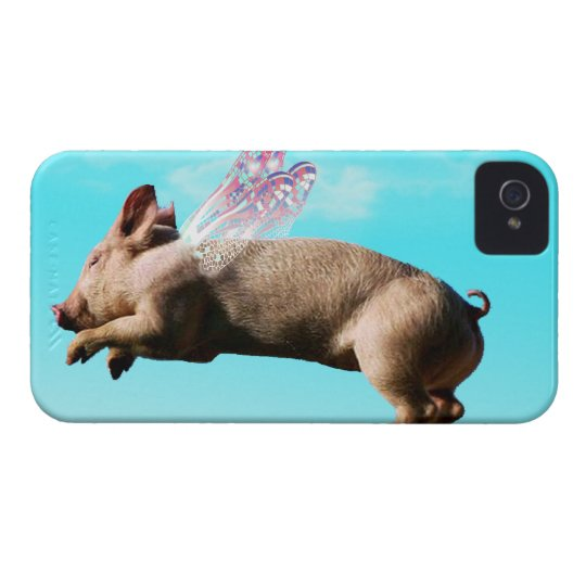 Cute flying pig iphone 4 cases