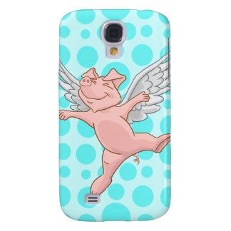 Cute Flying Pig Samsung S4 Case