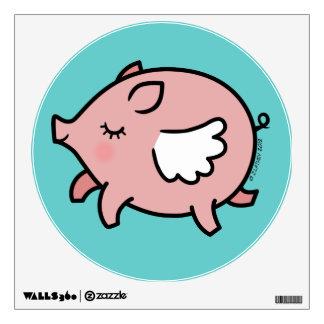 Cute Flying Pig Wall Sticker